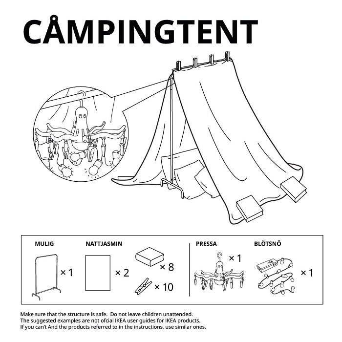 Camping Tent 6 IKEA Castle Ideas To Build Guide