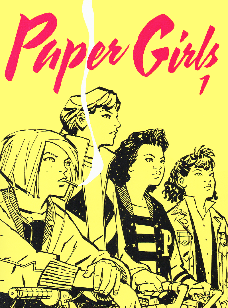 Brian K. Vaughan's Paper Girls cover of the first issue
