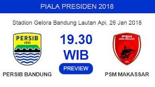 Persib Bandung Masih Bisa Lolos ke Perempat Final Piala Presiden 2018