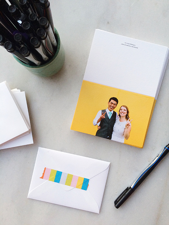 simple and fun wedding thank you cards