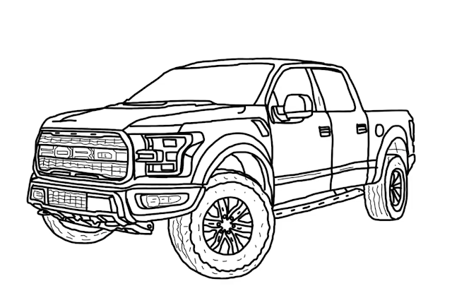 How to Draw Ford F-150 Raptor 2020 - Step by Step