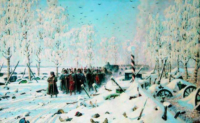 Василий Васильевич Верещагин - На большой дороге. Отступление, бегство. 1887-1895