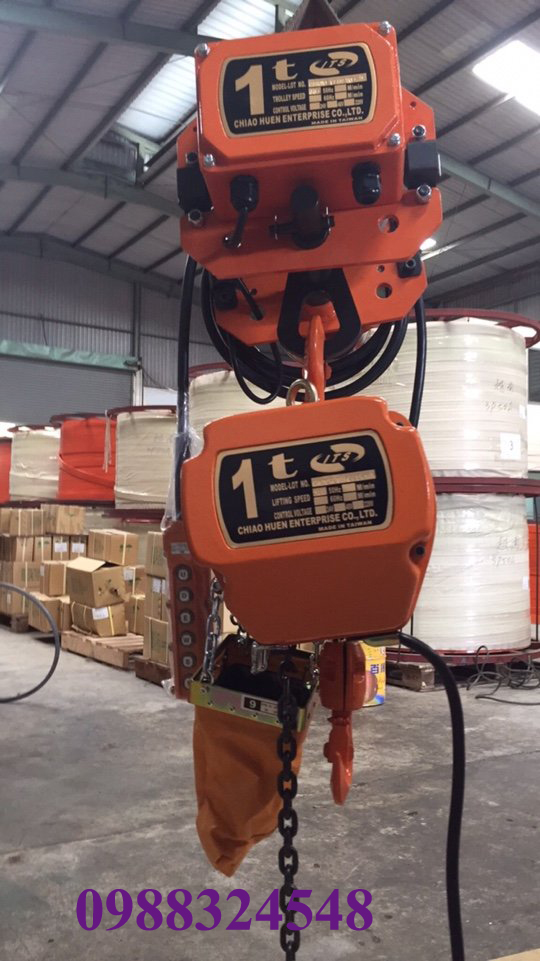 palang điện xích ITS CH-010 + CHM-010 1 tấn