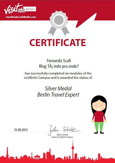 certificado de especialista em Berlim