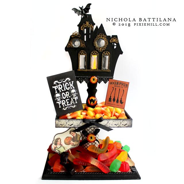 AlphaStamps Spooky Candy Dish - Nichola Battilana