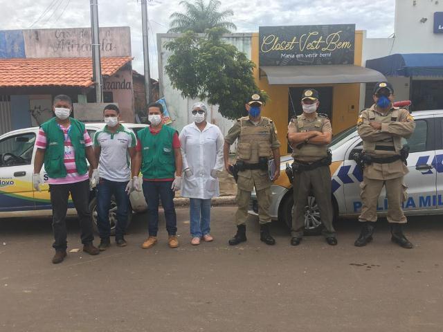9º Batalhão da PM continua as ações no combate ao COVID-19 (Novo Coronavírus) no Bico do Papagaio