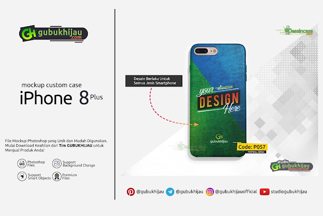 Mockup Custom Case iPhone 8 Plus by gubukhijau