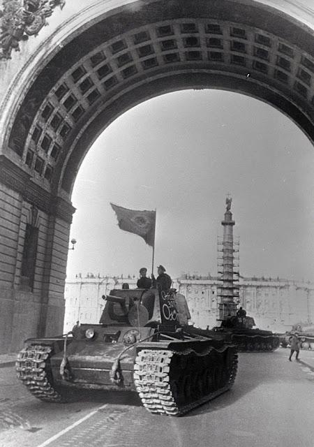 KV-1 tanks on parade 1 May 1942 worldwartwo.filminspector.com
