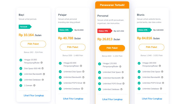 shared hosting murah unlimited indonesia