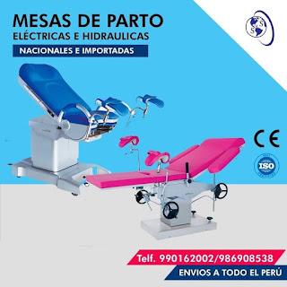 anuncio mesas parto colores azul rosada acero