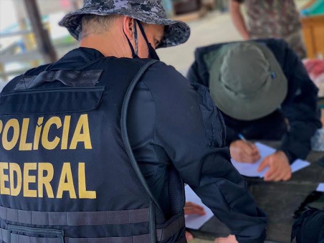 PF e autoridades francesas combatem comércio ilegal de caça na fronteira do Brasil