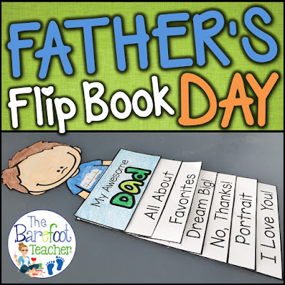 This Father's Day Flip Book Craftivity is fun, easy, and will go right along with the other cards, gifts ideas, and crafts that you have planned for your kids to do for their dads, uncles, or grandfathers. Six tabs provide information that shows just how much your Preschool or Kindergarten littles know about and love their special someone while incorporating beginning writing practice at the same time. Simple cutting and easy assembly allows for all students to happily succeed!