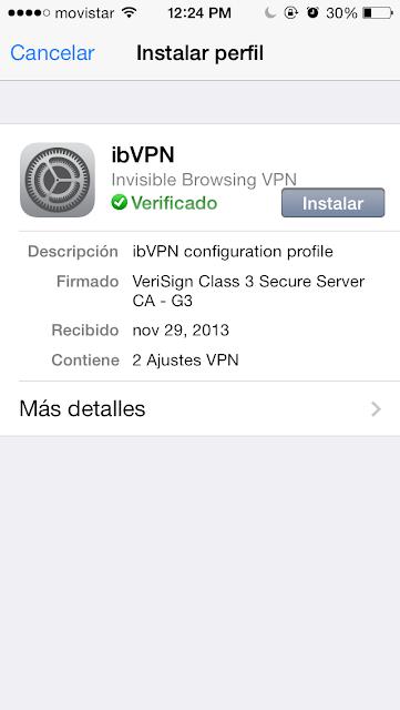 Como configurar un VPN  y ver sitios bloqueados sea Twitter, Facebook o tener mas app en Freemyapps 6