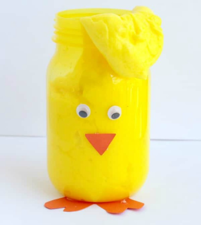 Easter chick slime - Easter activities for preschoolers and toddlers
