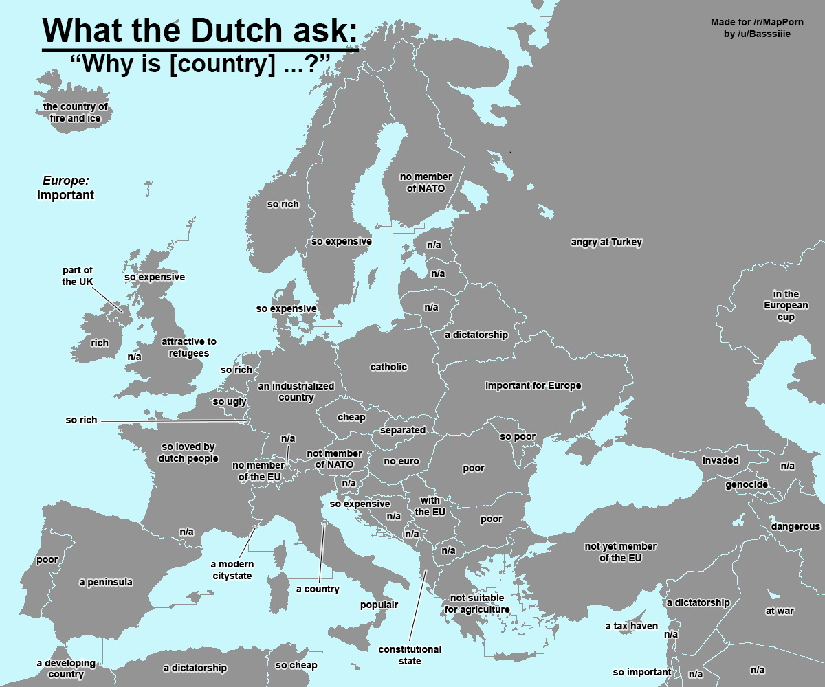 What the Dutch ask about Europe and surroundings, according to Google.nl
