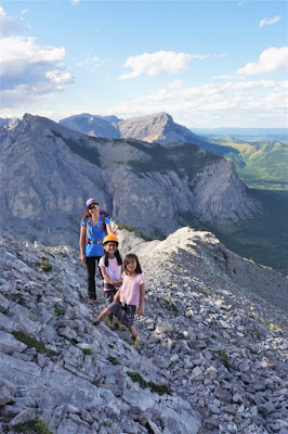 Looking back into the valley north of Yamnuska