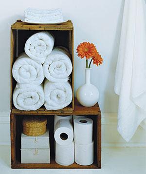 Caixotes organizador de banheiro