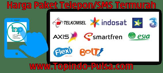 Topindo-Pulsa.Com Agen Pulsa Paket Telepon SMS Termurah