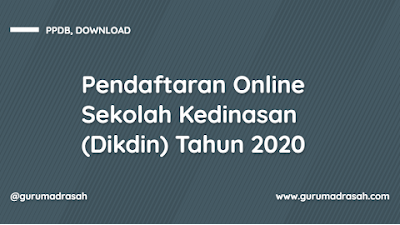 Surat Edaran Rencana Pembukaan Pendaftaran Online Sekolah Kedinasan (Dikdin) Tahun 2020