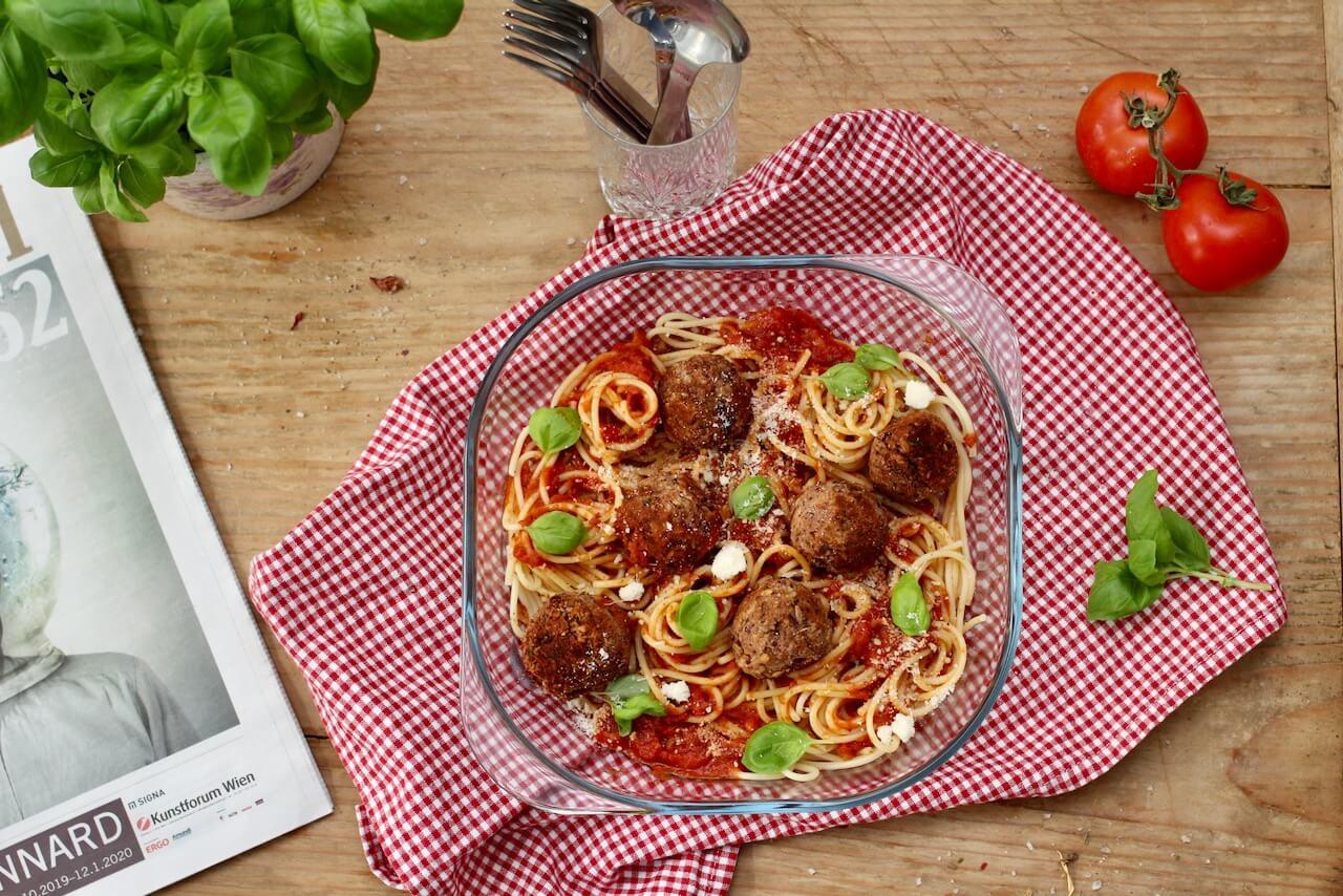 Vegane Meat Ball Pasta