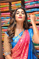 Puja Hegde looks stunning in Red saree at launch of Anutex shopping mall ~ Celebrities Galleries 041.JPG