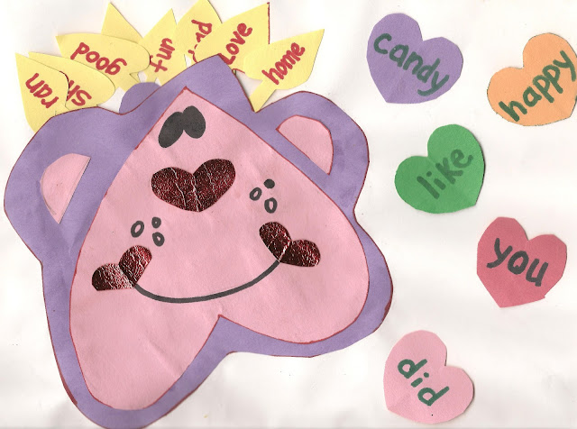 Monkey Valentine Sight Word Game for Kids
