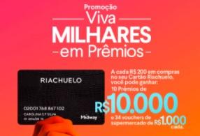Cadastrar Promoção Riachuelo 2021 Viva Milhares em Prêmios - Cartão da Loja
