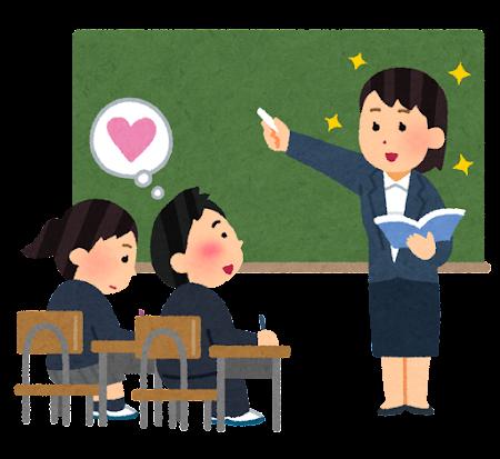 先生に恋する生徒のイラスト(男子)