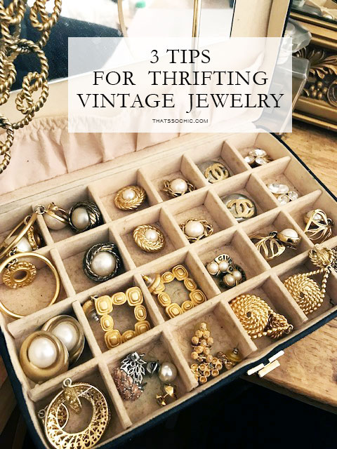 thrift tips, vintage Chanel earrings, vintage designer jewelry
