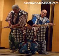Viaje a Japón: Escena del Kyogen representado