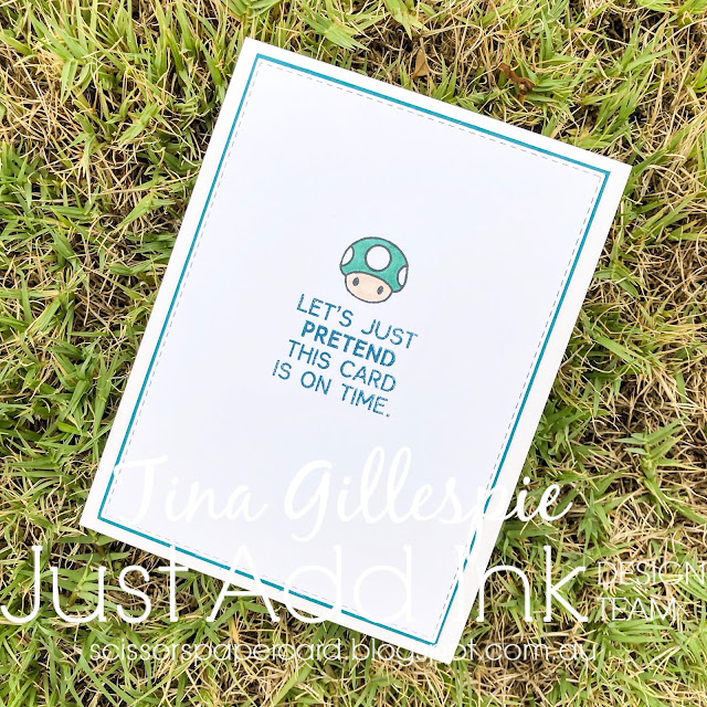 scissorspapercard, Stampin' Up!, Kindred Stamps, Ink Road Stamps, MFT, Just Add Ink, Plumber Brothers, Legendary, Belated, Circle Burst Stencil, Stitched Rectangle Dies, Stampin' Blends