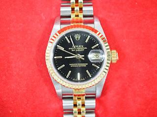 ロレックス デイトジャスト女性用腕時計をお買い取り致しました 69173 X番です