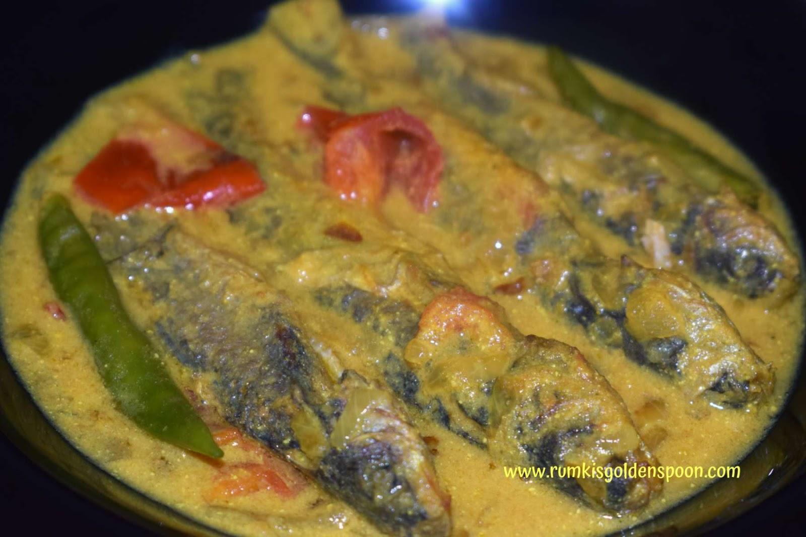 Indian Recipe, Bengali Cuisine, Shorshe Tangrar Jhal (Cat fish in Spicy Mustard Sauce), Rumki's Golden Spoon, Quick and Easy, Shorshe tangra, recipe with small fish/tangra mach/cat fish, tangra/choto macher shorshe diye jhol/rasha, choto macher/tangra macher jhaal/jhal, cat fish curry, choti machli ki gravy