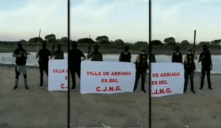 """Video, """"Puro Cartel Jalisco cabrones"""", Sicarios empecherados y bien armados del CJNG anuncia llegada a SLP; """"Villa de Arriaga es del CJNG"""""""