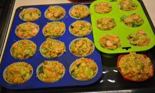 babeczki warzywne z parówkami