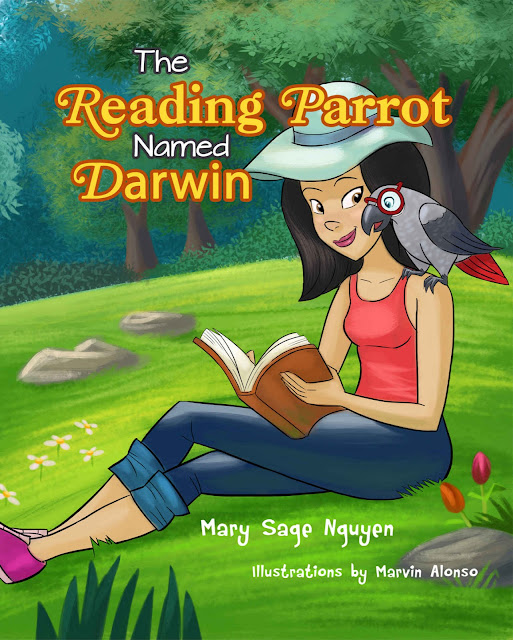 The Reading Parrot Named Darwin by Mary Sage Nguyen