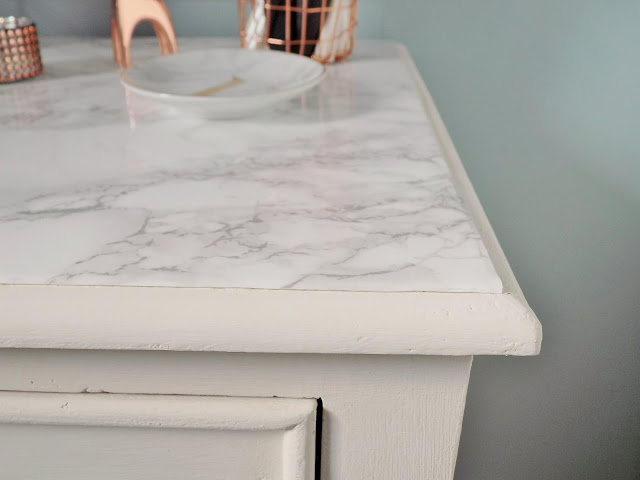 how to make a marble topped table with vinyl