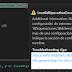 Error: No se pudo cargar una sección de configuración de extremo para el contrato