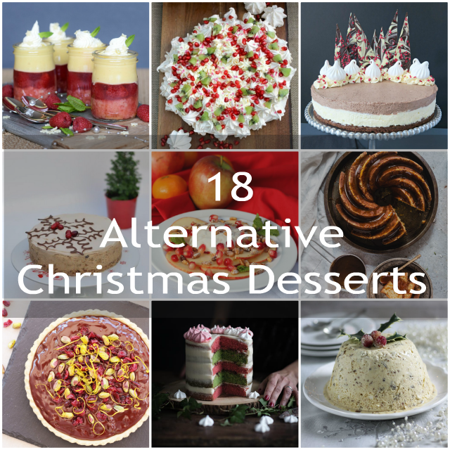 If you're looking for an alternative Christmas Dessert, rather than the traditional pudding, then check out these 18 fab dessert recipes.  From Cheesecakes, tasty chocolate creations, trifle and lighter desserts, there's bound to be some which whet your appetite!