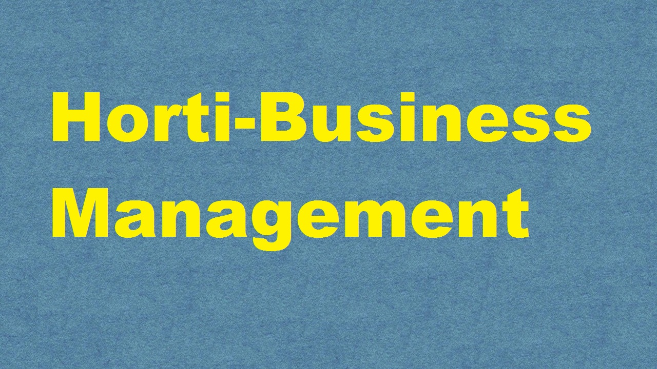 Horti Business Management ICAR E course Free PDF Book Download e krishi shiksha