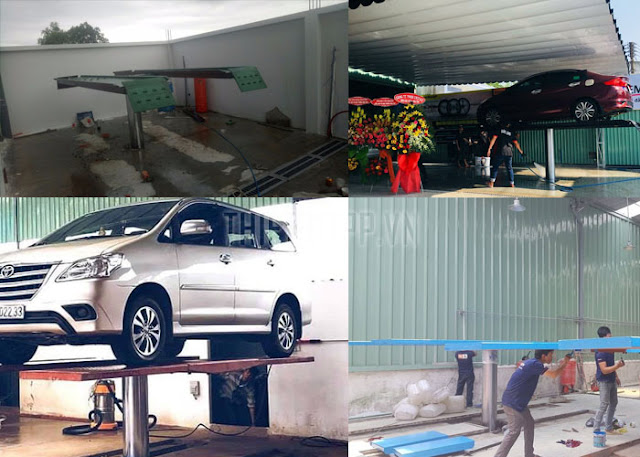 cầu nâng 1 trụ rửa xe, cầu nâng 1 trụ rửa xe ô tô, cầu nâng 1 trụ rửa xe giá rẻ
