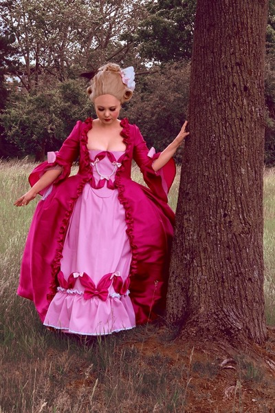marie antoinette cosplay rococo 18th century pink dress lady oscar rose of versailles robe a la francaise