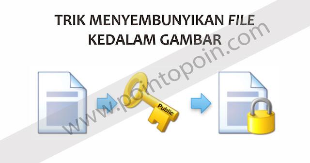 Trik Menyembunyikan File Kedalam Gambar