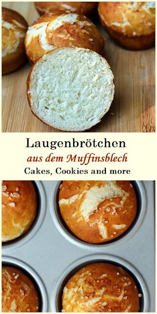 Rezept für Laugenbrötchen aus dem Muffinsblech
