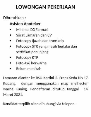 Loker Kupang CV NAM Sebagai Driver/Sopir