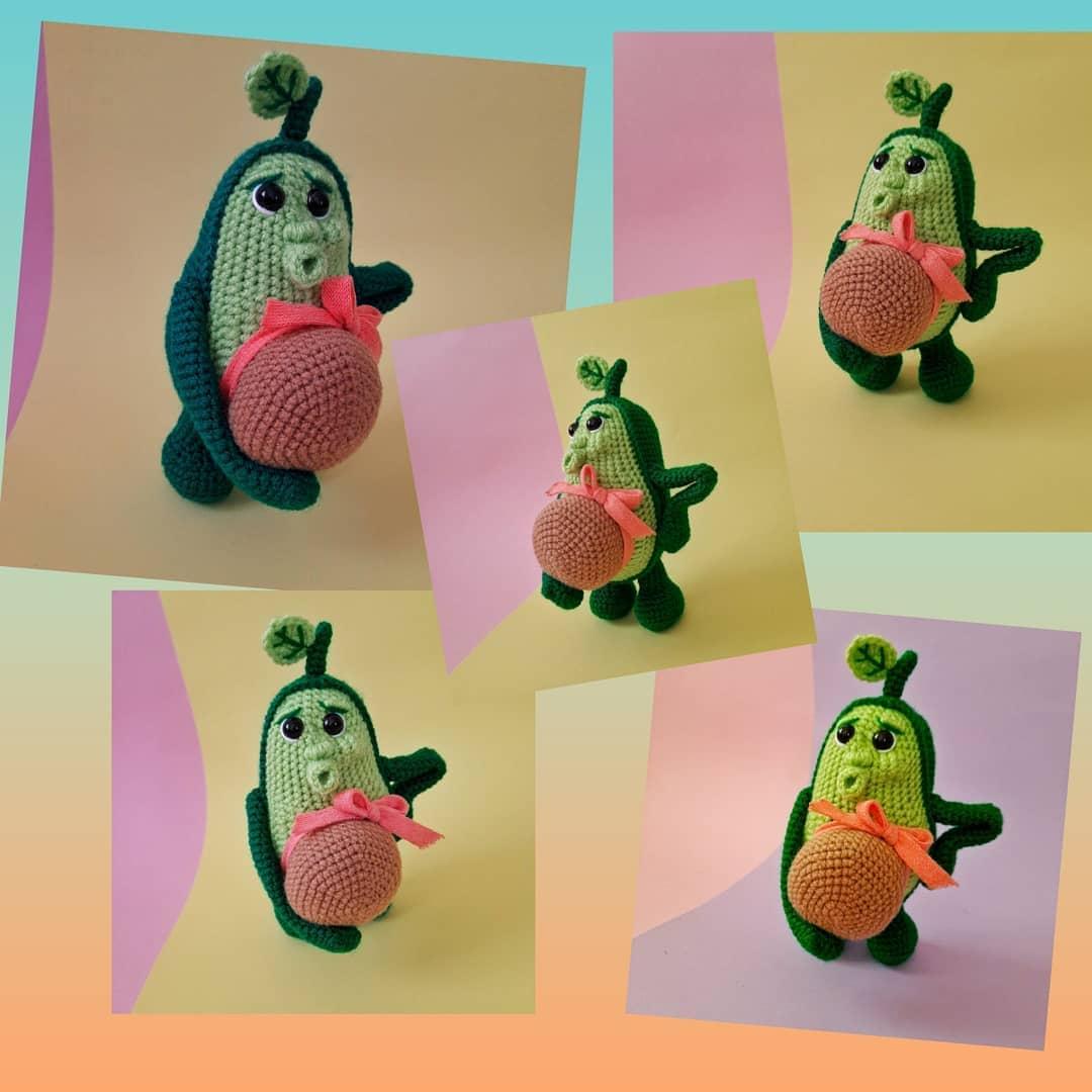 Авокадо игрушка крючком
