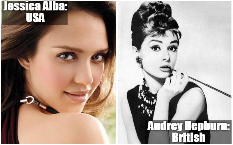 Jessica Alba Vs Audrey Hepburn