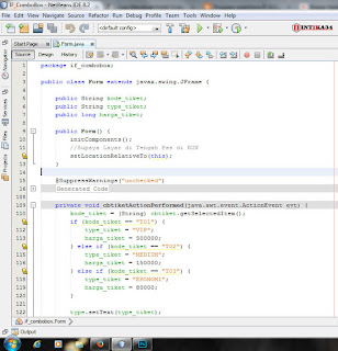 netbeans, if, else, combobox, jComboBox