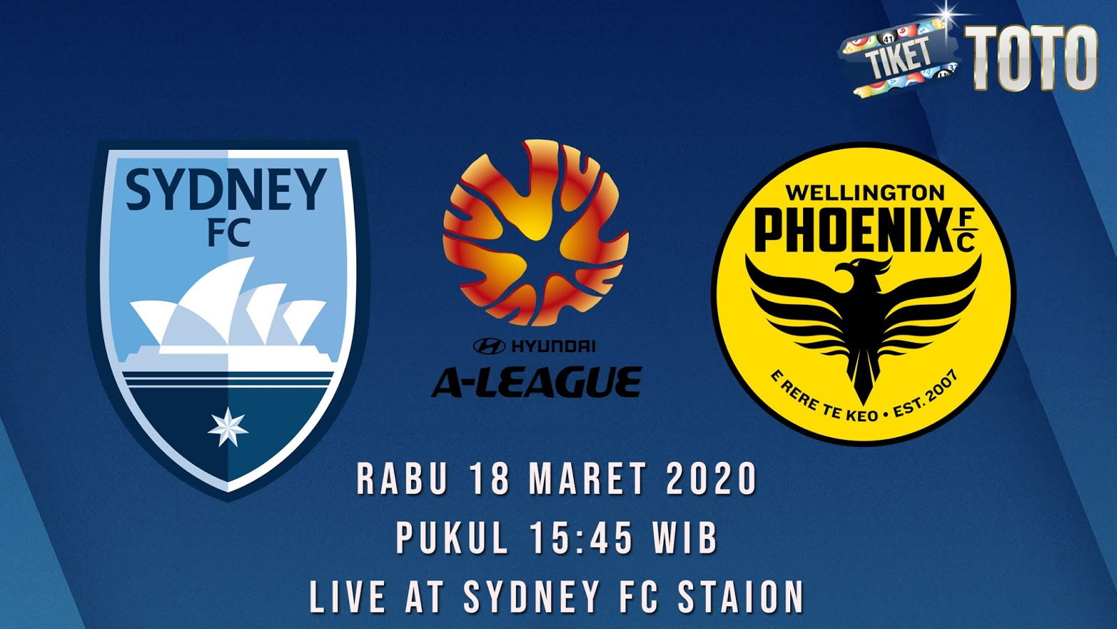 Prediksi Sydney FC vs Wellington Phoenix 18 Maret 2020