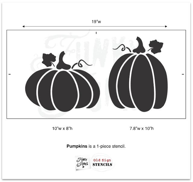 Photo of a pumpkin stencil graphic